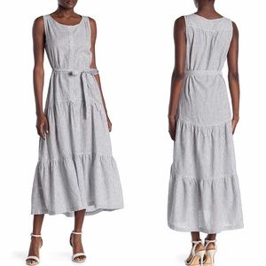 MAX STUDIO Sleeveless Self Tie Button Front Dress